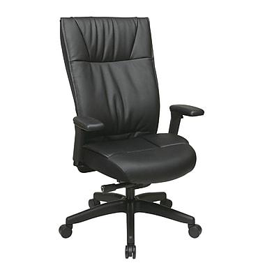 Office Star – Fauteuil de direction moderne Space en cuir avec siège et dossier rembourrés, noir
