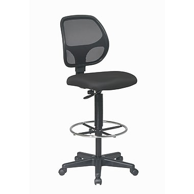 WorkSmart Deluxe Mesh Back Drafting Chair with Adjustable 20
