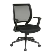 "WorkSmart Screen Back Task Chair with ""T"" Arms, Black"