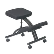 Work Smart Ergonomic Knee Chair with Memory Foam, Black