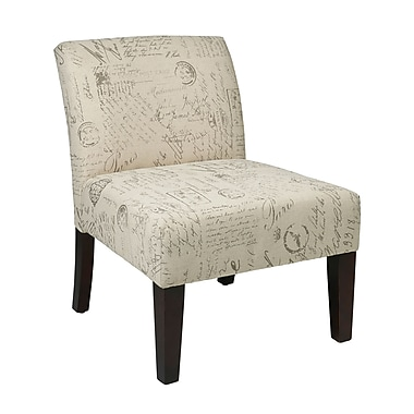 Avenue Six Laguna Accent Chair in Script
