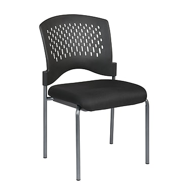 Pro-Line Visitors Chair with Ventilated Plastic Wrap Around Back, Black