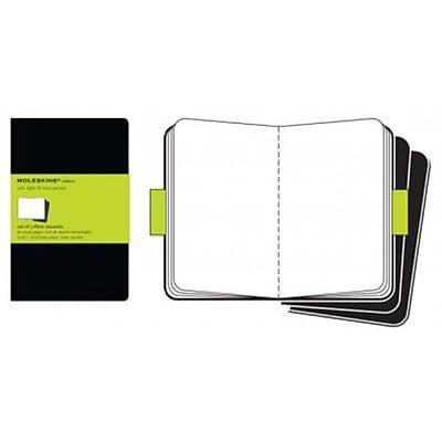 Moleskine Cahier Journals Plain Notebook Large Set of 3, Black