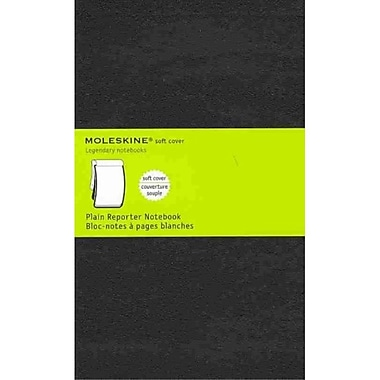 Moleskine Pocket Reporter Plain Notebook Large, Black