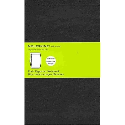 Moleskine Pocket Reporter Plain Notebook Large, Black