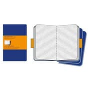Moleskine Cahier Journal Ruled Notebook Extra Large Set of 3, Blue