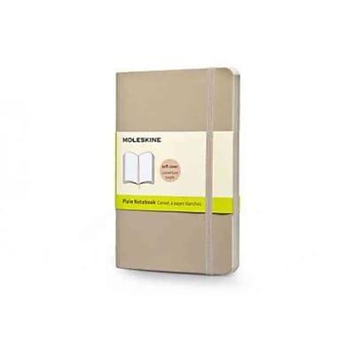 Moleskine Pocket Plain Notebook, Khaki Beige