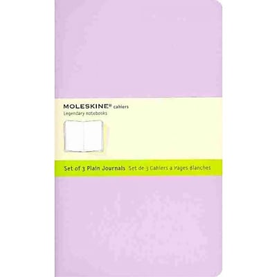 Moleskine Cahier Journal Plain Notebook Large Set of 3, Multi