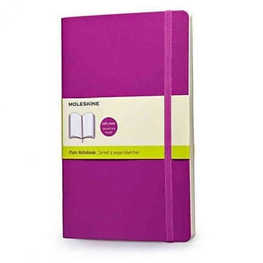 Moleskine Classic Colored Plain Notebook Large, Orchid Purple