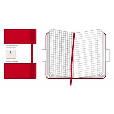 Moleskine Classic Pocket Square Notebook, Red