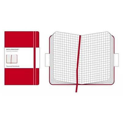 Moleskine Classic Pocket Square Notebook Large, Red by Moleskine