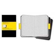 Moleskine Cahier Journals Squared Notebook Extra Large Set of 3, Black