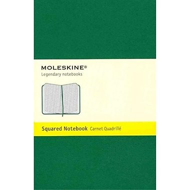 Moleskine Classic Pocket Squared Notebook, Oxide Green