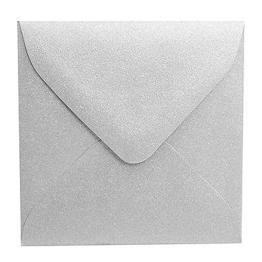 JAM Paper® 3.125 x 3.125 Mini Square Envelopes, Stardream Metallic Silver, 100/Pack (V018239A)