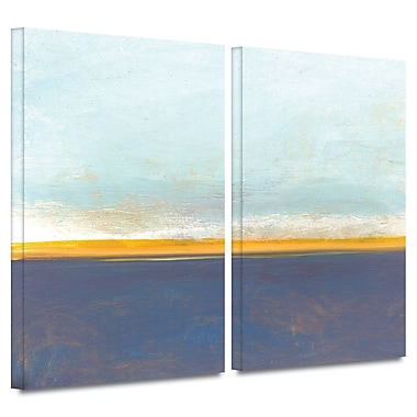 ArtWall ''Big Country Sky I'' by Jan Weiss 2 Piece Painting Print on Wrapped Canvas Set
