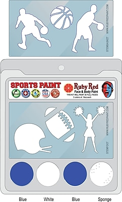 RUBY RED PAINT, INC. College Sports Face Paint; BYU