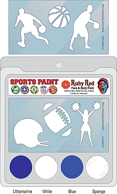 RUBY RED PAINT, INC. College Sports Face Paint; Utah State