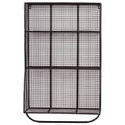 Urban Trends 9 Hole Metal Wall Cubby w/ Hanger Bar