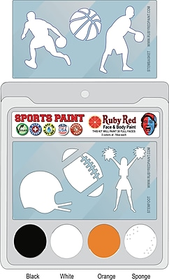RUBY RED PAINT, INC. College Sports Face Paint; Oklahoma University