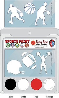RUBY RED PAINT, INC. College Sports Face Paint; Nebraska