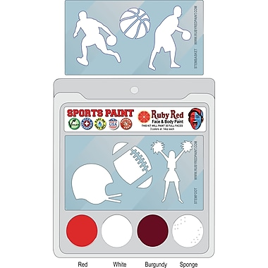 RUBY RED PAINT, INC. College Sports Face Paint; Alabama