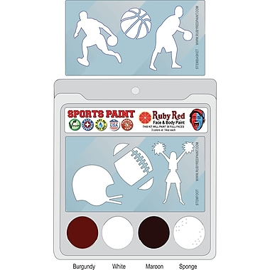 RUBY RED PAINT, INC. College Sports Face Paint; Mississippi
