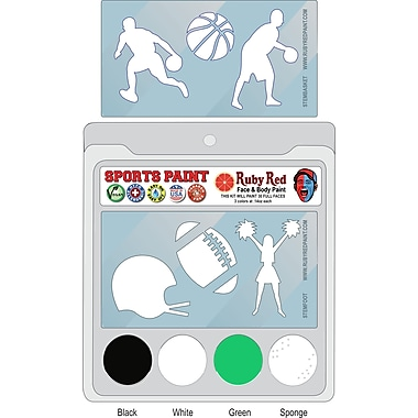 RUBY RED PAINT, INC. College Sports Face Paint; Marshall