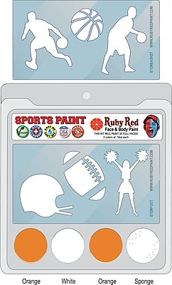 RUBY RED PAINT, INC. College Sports Face Paint; Tennessee