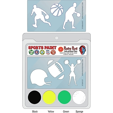 RUBY RED PAINT, INC. College Sports Face Paint; Oregon