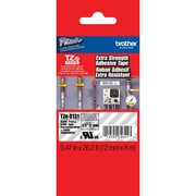 """Brother Label  Tape with Extra Strength Adhesive 8m (26.2 ft), 12mm (0.47"""") Black on Clear, TZES131"""
