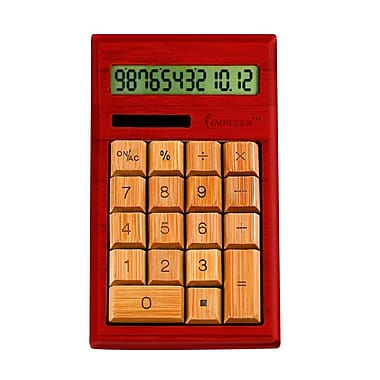 Impecca Standard Function Calculator, Mahogony