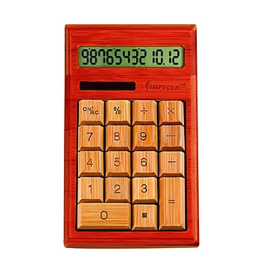 Impecca Standard Function Calculator, Cherry