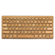 Impecca KBB78BTK Bluetooth Wireless Bamboo Sleek Keyboard, Black Trim