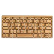 Impecca KBB78BTK Bluetooth Wireless Bamboo Sleek Keyboard, Black Trim