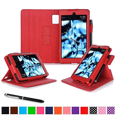 roocase Tablets Dual View Folio Case, Red