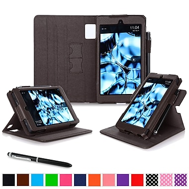 roocase Tablets Dual View Folio Case, Brown