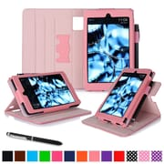 roocase Tablets Dual View Folio Case, Pink