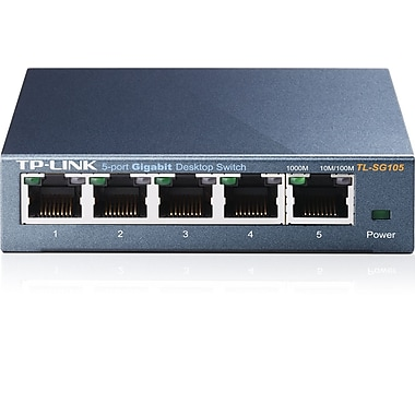 TP-LINK - Commutateur de bureau 10/100/1000Mbps 5 ports (TL-SG105)
