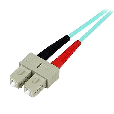 StarTech® 10m 10 Gb Aqua Multimode 50/125 Duplex LSZH Fiber Patch Cable LC, SC