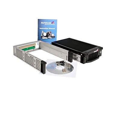 StarTech® Black Aluminum 5.25in Professional SATA Hard Drive Mobile Rack Drawer