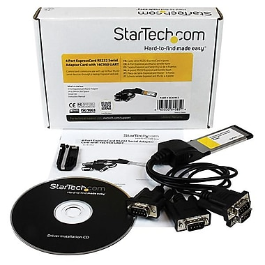 StarTech.com 4 Port Native ExpressCard RS232 Serial Adapter Card with 16C950 UART