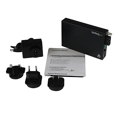 StarTech.com 10/100 Mbps Single Mode Fiber Media Converter SC 30 km