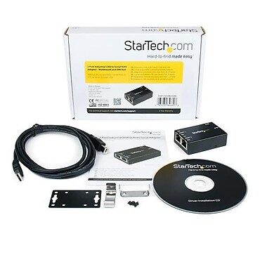 StarTech.com 2 Port Industrial USB to Serial RJ45 Adapter, Wallmount and DIN Rail