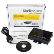 StarTech® 2 Port Wall Mountable USB to Serial Adapter Hub with COM Retention
