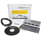 StarTech® 4 Port USB to RS232 Serial DB9 Adapter Hub