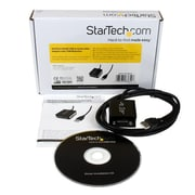 StarTech® 6 ft Professional RS422/485 USB Serial Cable Adapter w/ COM Retention