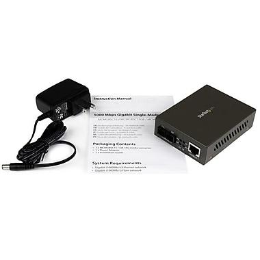 StarTech ® Convertisseur média Gigabit de 1000 Mb/s alimenté par Ethernet à fibre optique SC monomode, 15 km