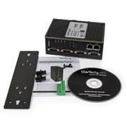StarTech.com – 4 ports série RS-232/422/485 vers serveur d'appareils Ethernet IP, PoE, 2 ports 10/100 Mb/s