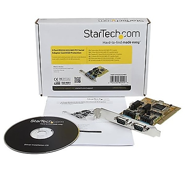 StarTech® 2 Port RS232/422/485 PCI Serial Adapter Card w/ ESD Protection