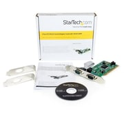 StarTech® 2 Port PCI RS232 Serial Adapter Card with 16550 UART